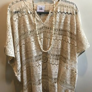 Beautiful crocheted top by CAbi